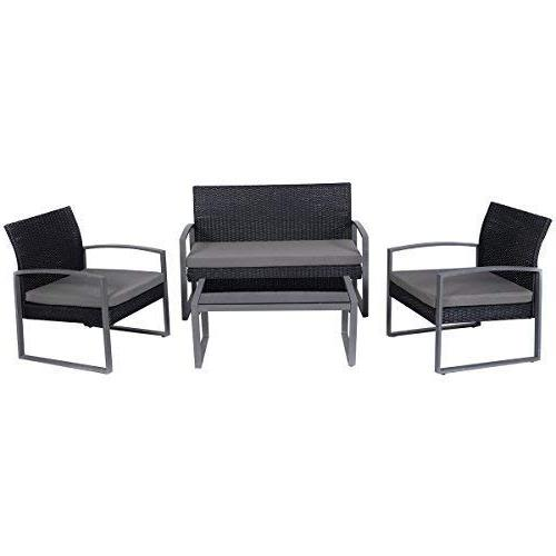 Tangkula PCS Outdoor Patio Furniture Conversation with Table Single Sofas Set Lawn Garden Outdoor Furniture