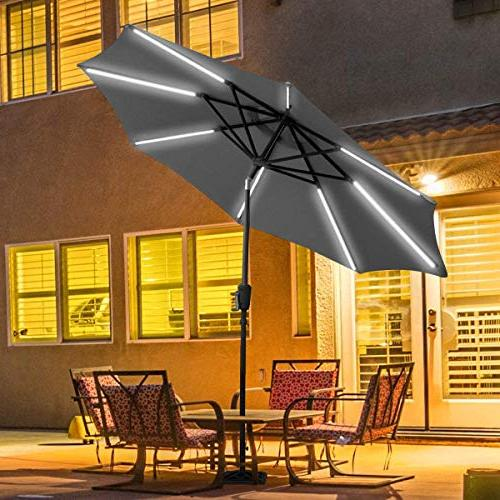 Tangkula 9ft Umbrella Garden Tent Rain Patio with