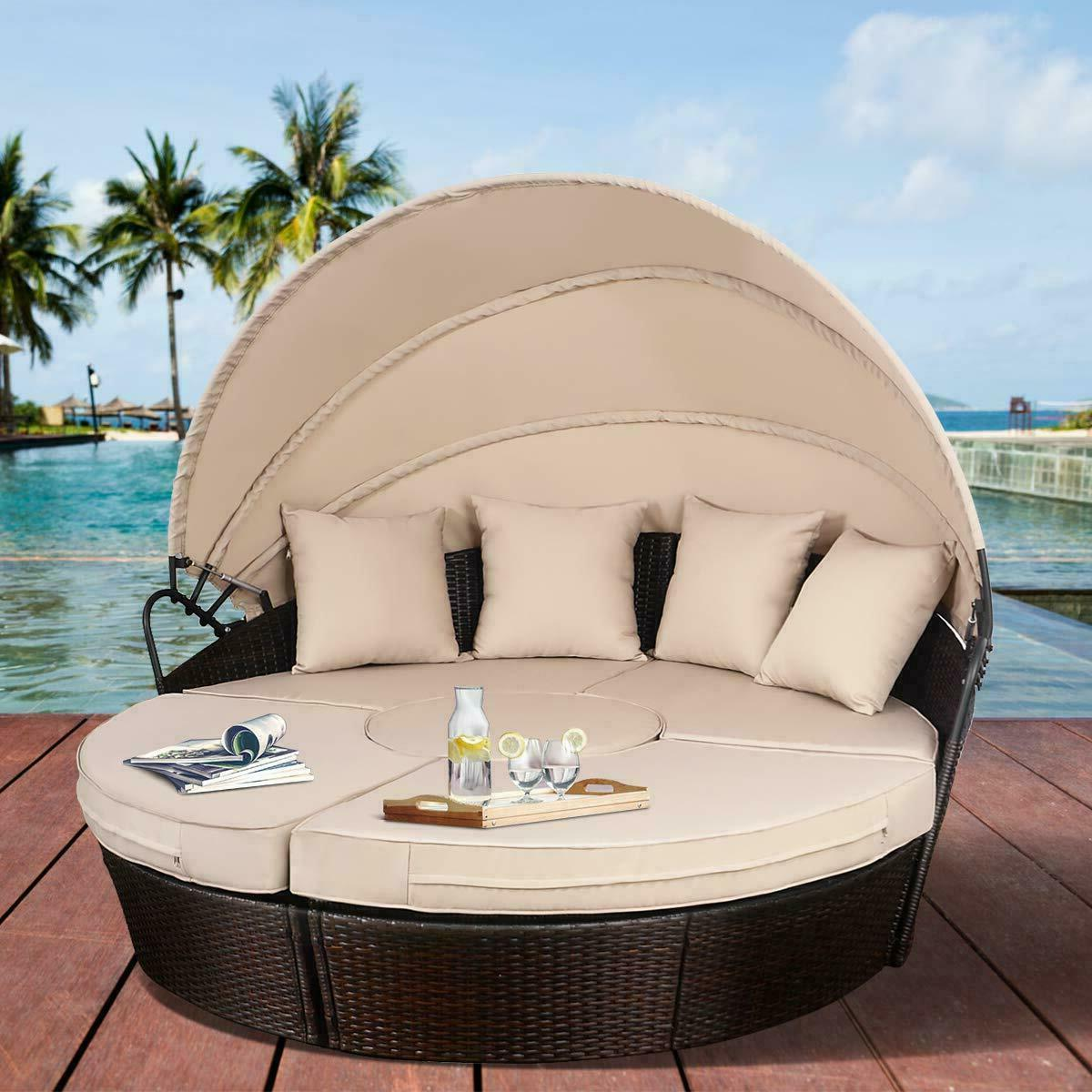 Poolside Outdoor Daybed Lounge
