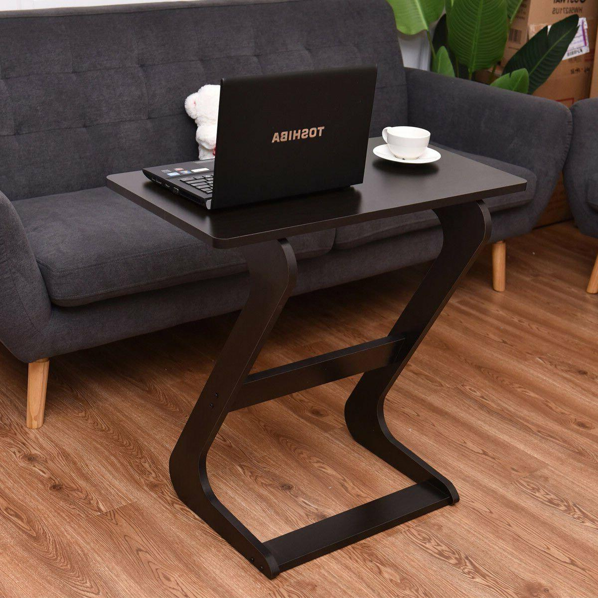 TANGKULA Portable Sofa Table Home TV Notebook Snack End