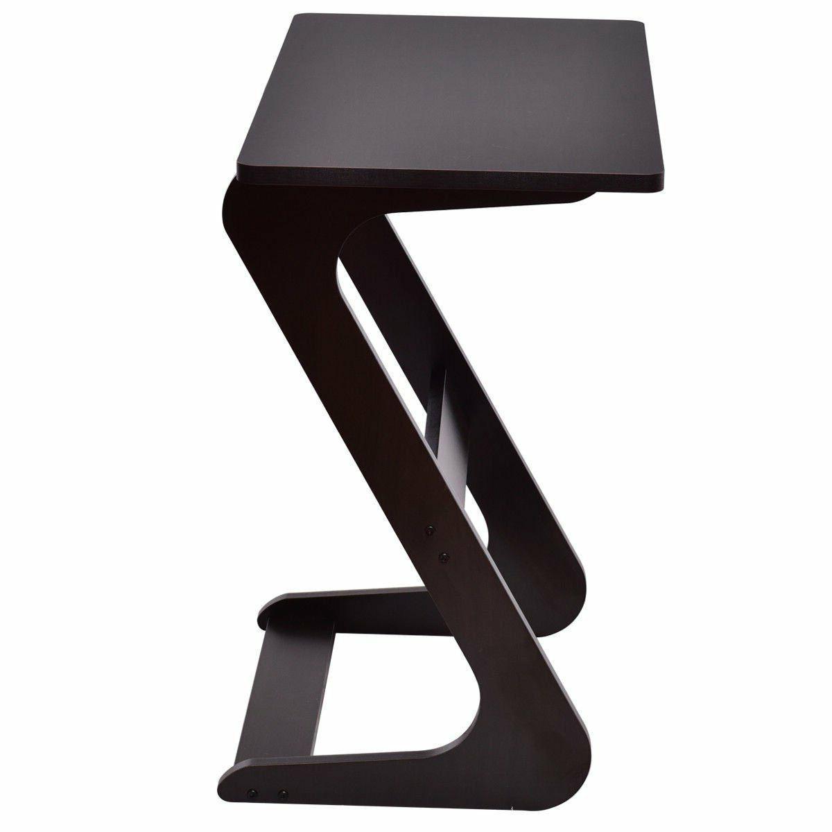TANGKULA Portable Sofa Table Snack End Wood