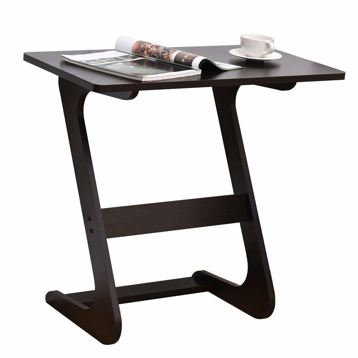 TANGKULA Portable Table Snack End Coffee Wood