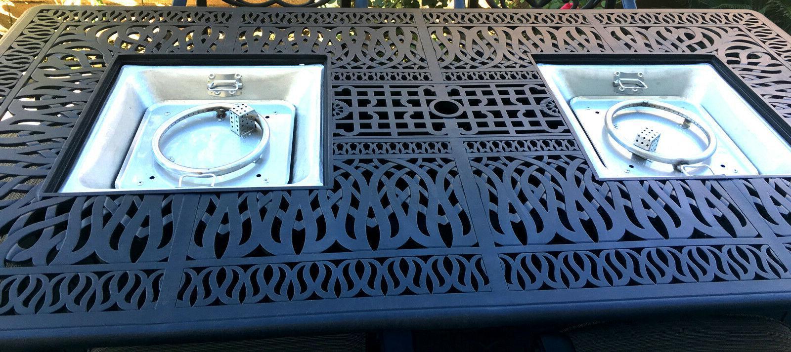 Propane Fire Table Cast Aluminum Furniture Set