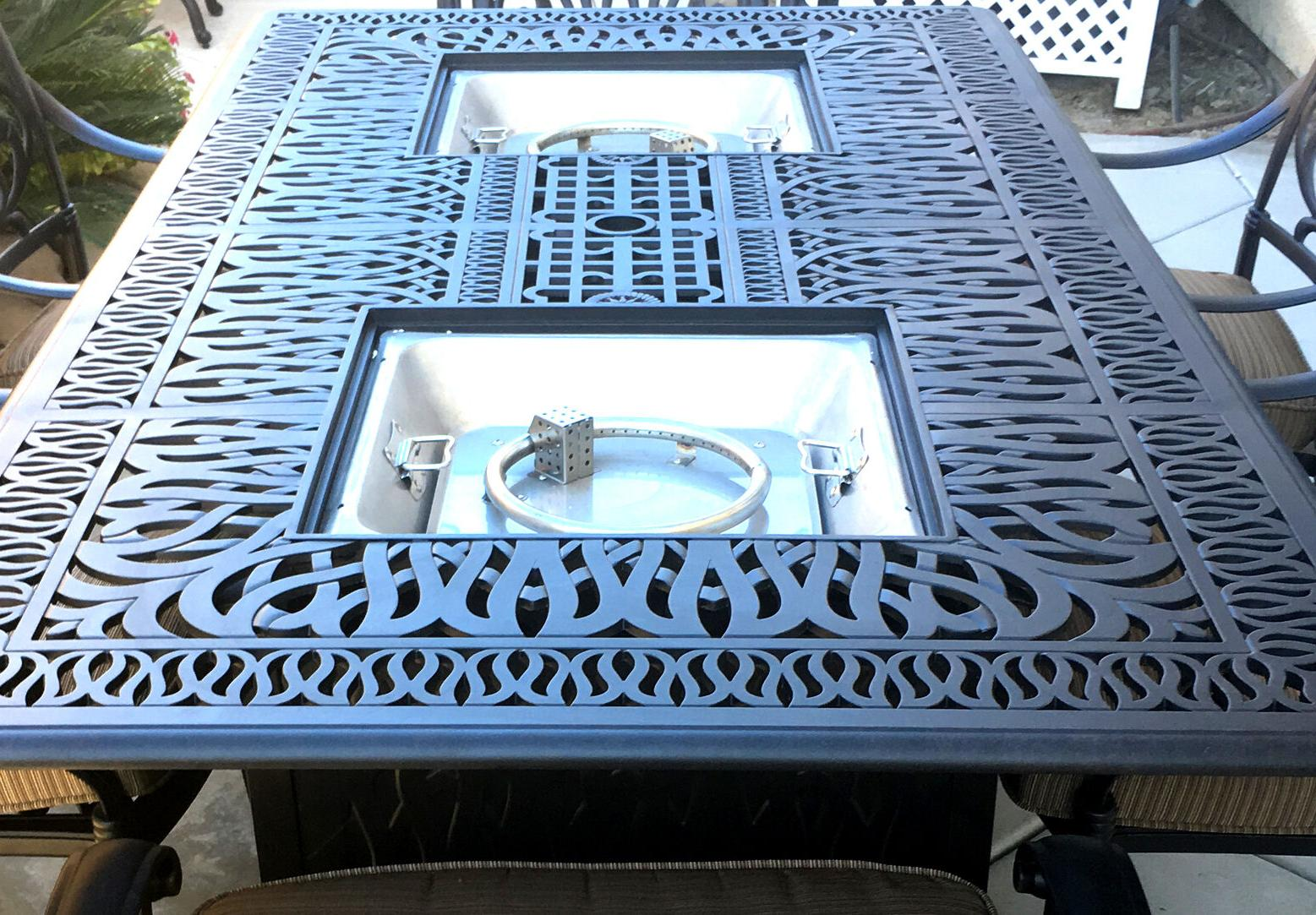 Propane Fire Cast Furniture Set