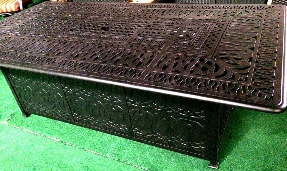 Propane Fire Cast Aluminum Patio Furniture Piece Set