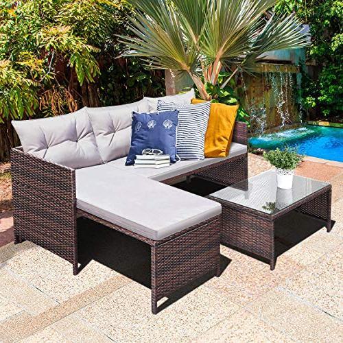 Tangkula Lounge Chaise Garden