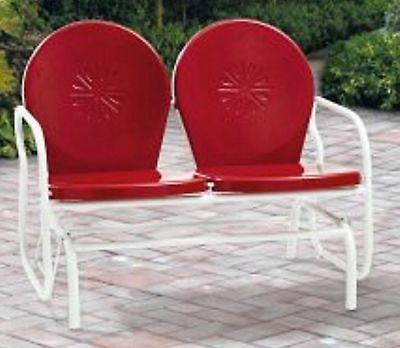 retro metal glider garden seating outdoor furniture