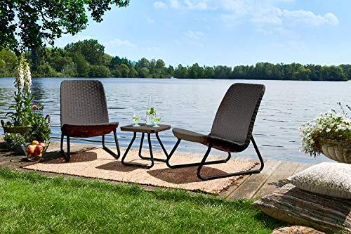 Keter Rio All Weather Outdoor Patio Garden Chair Table