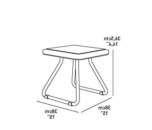 Keter Rio 3 All Garden Chair Table Set Furniture,