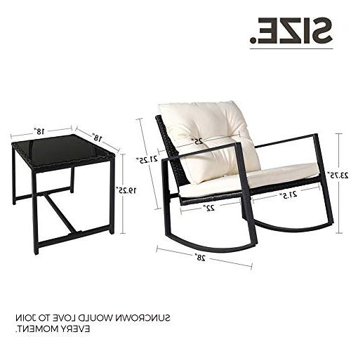 SUNCROWN Outdoor Bistro Set: Furniture-Two Coffee Table