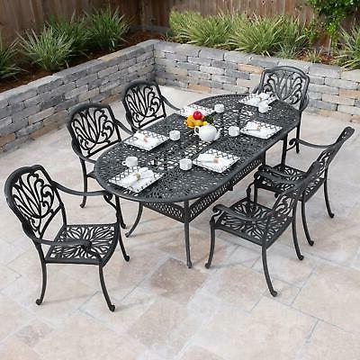 roxbury 7 pc cast aluminum patio dining