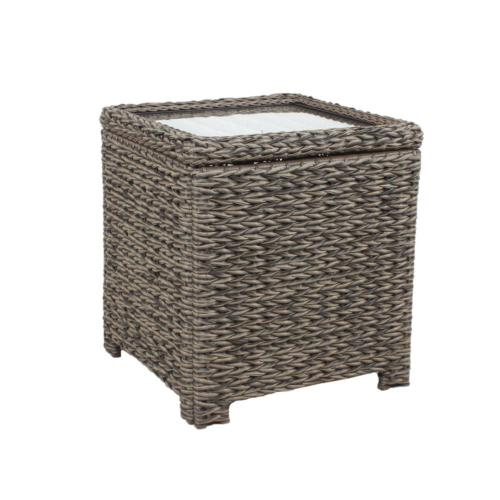 Square Wicker Outdoor Accent Table