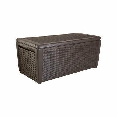 Keter Sumatra 135 gallon Outdoor Storage Rattan Deck Box Bro