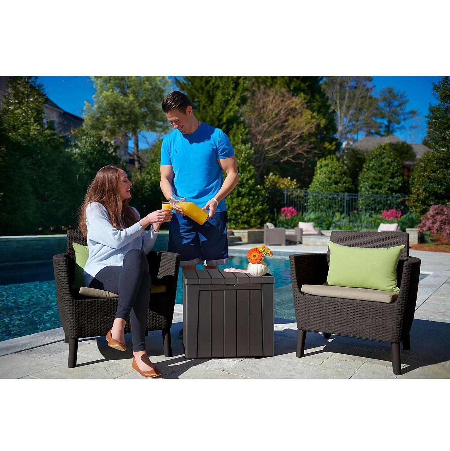 Keter Urban 30-Gallon Deck Box/Storage Table