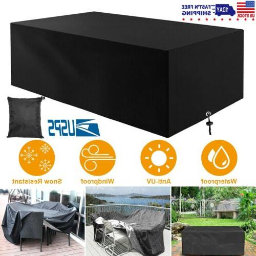 Waterproof Garden Patio Furniture Cover Rectangular Rattan T