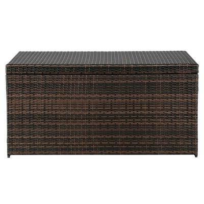 132 Wicker Outdoor Storage Deck Garden Furniture