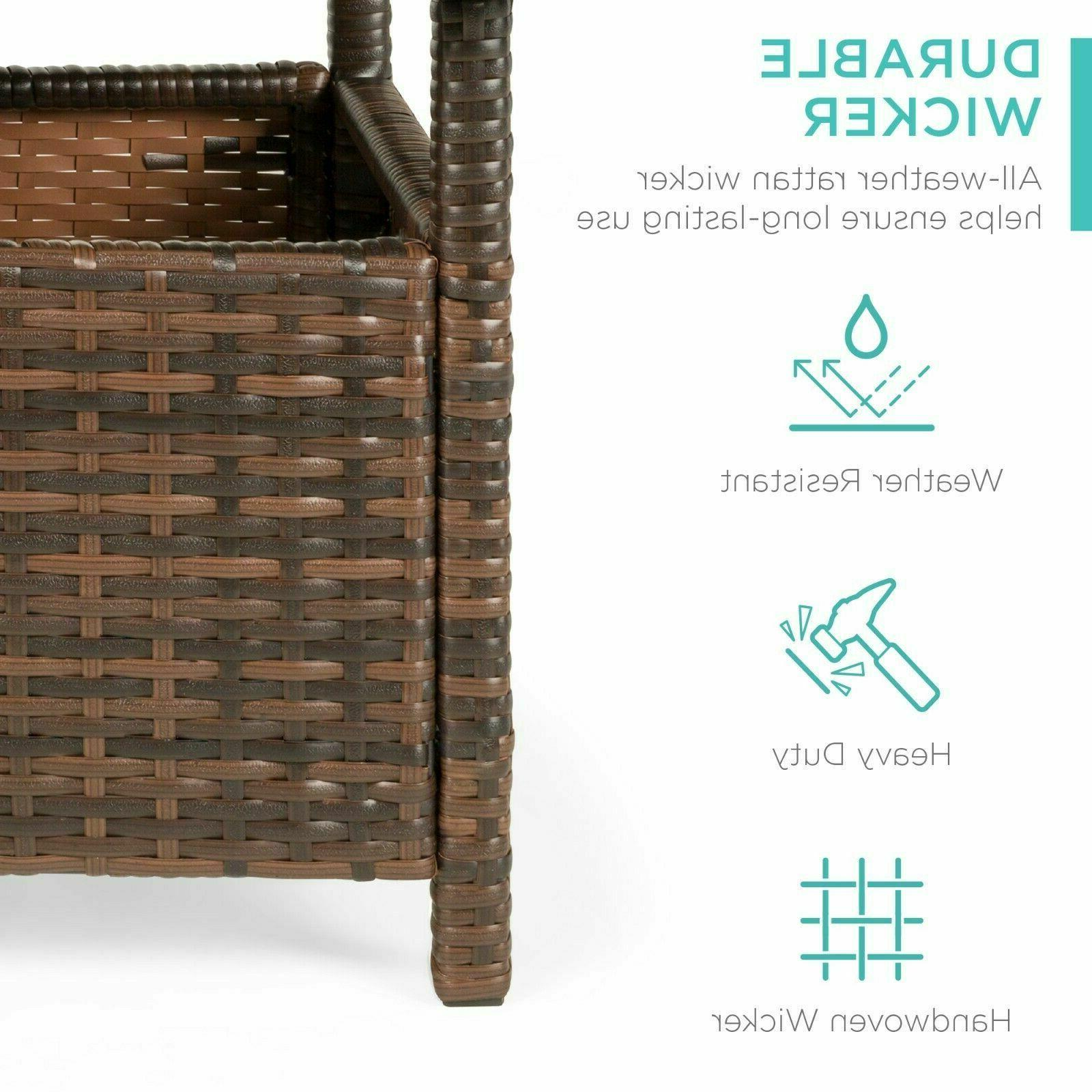 Best Wicker Rattan Side Outdoor