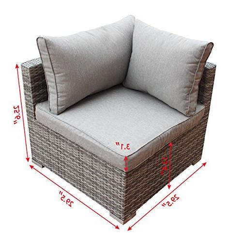 Tangkula Wicker Patio Sofa Set