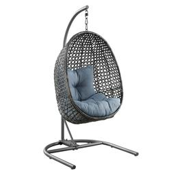 Luxurious Hanging Chair with Stand Wicker Patio Furniture Sw
