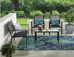 Mainstays Woodland Hills 4-Piece Sling Patio Furniture Conve