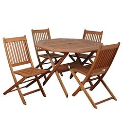 Amazonia Milano 5-Piece Octagon Set - Patio Furniture Sets