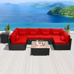 Modenzi Outdoor Sectional Patio Furniture With Propane Fire