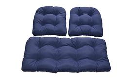 Resort Spa Home Decor Navy/Dark Blue Solid Fabric Cushions f