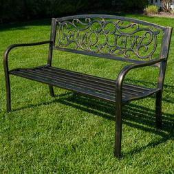 NEW Outdoor Garden Bench Patio Furniture Deck Backyard Welco