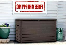 NEW Keter XXL 230 Gallon Plastic Deck Storage Container Box