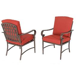 Hampton Bay Oak Cliff Stationary Metal Outdoor Dining Chair
