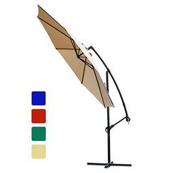 FARLAND Offset Umbrella 10 Ft Cantilever Patio Umbrella Outd