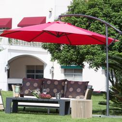 Offset Patio Umbrella Red Outdoor Furniture Cantilever Large