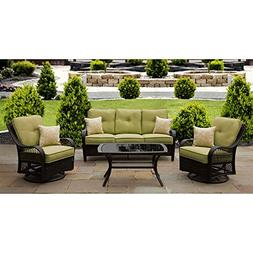 Hanover - Orleans Patio Lounge Set  - Green