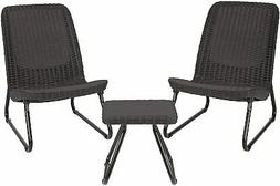 Outdoor Conversation Set Patio Furniture 3 PC All Weather 2