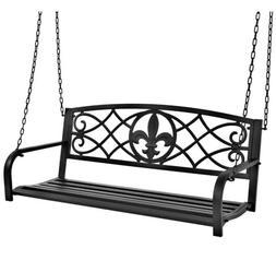 Best Choice Products Outdoor Furniture Metal Fleur-De-Lis Ha