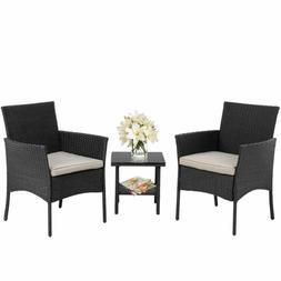 Bestmassage Outdoor Furniture Patio Sofa Set Wicker Rattan S