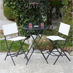 Outdoor Furniture Set Deck Patio Balcony Bistro Table Sling