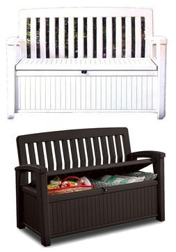 Outdoor Furniture Storage Deck Box Keter 60 Gallon Patio Poo