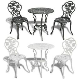 Outdoor Patio Furniture 3pcs Cast Aluminum Bistro Set Antiqu