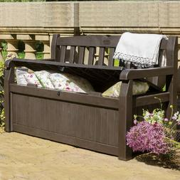 Outdoor Storage Bench Patio Box 70 Gallon Garden Deck Patio