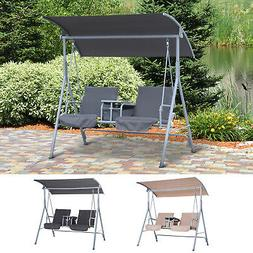 Outdoor Swing Chair Canopy Patio Garden Hanging 2 Person Yar