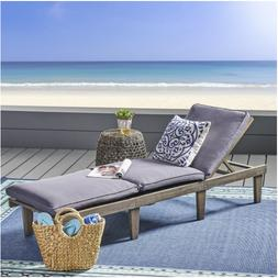 Outdoor Wood Chaise Lounge Cushion Christopher Knight Home P