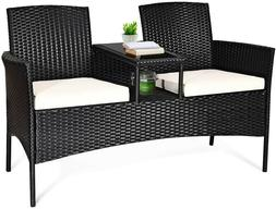 Outside Patio Conversation Furniture Set-Comes with class to