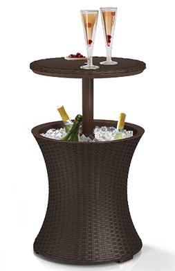 Keter Pacific Cool Bar Rattan Party Cooler in Java Brown
