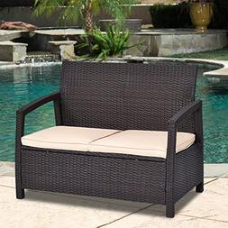 Tangkula Patio Bench Outdoor Garden Poolside Lawn Porch All