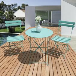 Patio Bistro Set 3 Piece Outdoor chair&table Garden Furnitur
