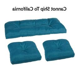 Patio Cushions Set of 3 Wicker Bench Chairs Outdoor Furnitur