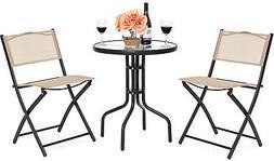 patio dining furniture set w round textured