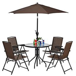 Patio Folding Chairs Furniture Set Of 4 For Outdoor Garden D