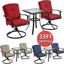 patio furniture bistro table chairs set 3